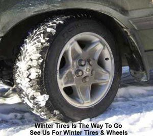 Winter tires is the way to go. See us for winter tires & wheels.